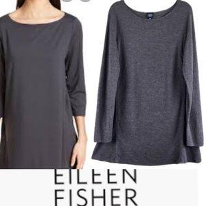 EILEEN FISHER Wool Boucle Sweater Dress Tunic
